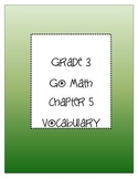 Grade 3 Go Math Chapter 5 Vocabulary