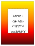 Grade 3 Go Math Chapter 6 Vocabulary