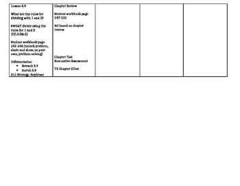 Grade 3 - Go Math! Chapter 6 Lesson Plans