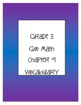 Grade 3 Go Math Chapter 9 Vocabulary
