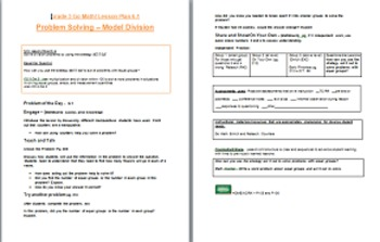 UPDATED Go Math Grade 3 Lesson Plans, Chapter 6 (6.1 - 6.9, Bundled)