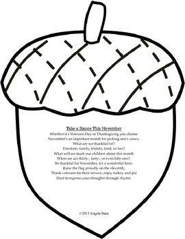 Thanksgiving Veterans Day Poetry Pack