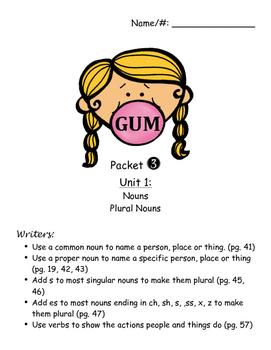 Grade 3 Grammar Packet Covers
