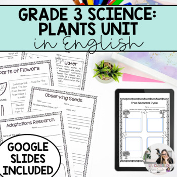Grade 3 Growth and Changes in Plants Unit (English Version)