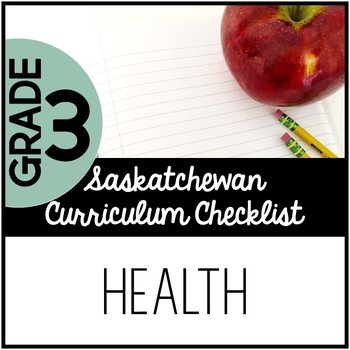 Grade 3 Health - Saskatchewan Curriculum Checklists
