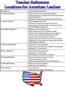 Grade 3 Historical American Leaders Booklet