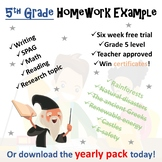 Grade 3 Homework Grid - Free Example