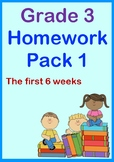Grade 3 Homework for the Year – The First 6 Weeks