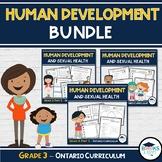 3 Part BUNDLE: Grade 3 - Human Development and Sexual Health