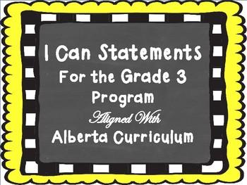 Grade 3 I Can Statement Bundle - Alberta