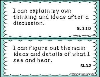 "Grade 3 ""I Can"" Statements - CCSS - ELA and MATH"