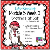 HMH Into Reading Module 5 Week 3 Third Grade - Brothers at Bat Supplement