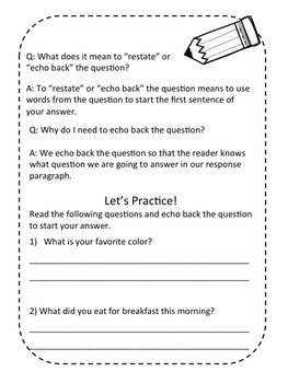 Grade 3 Journeys Short Response Packet