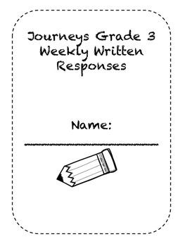 Grade 3 Journeys Short Response Packet