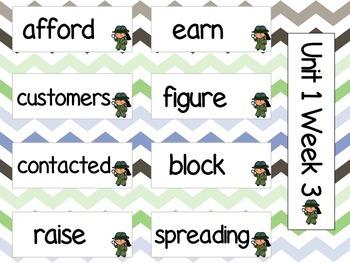 Grade 3 Journeys Unit 1 Vocabulary Cards