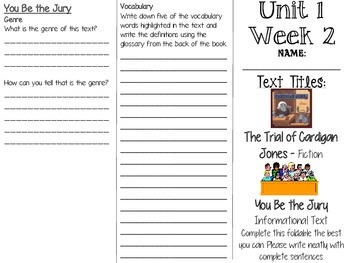 Grade 3 Journeys Unit 1 Week 2 Tri-fold