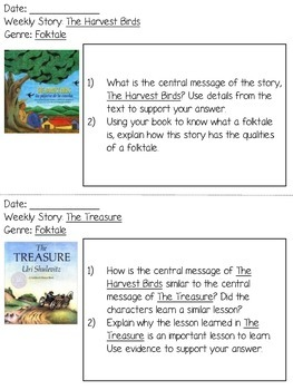 Grade 3 Journeys Unit 2 Written Repsonses