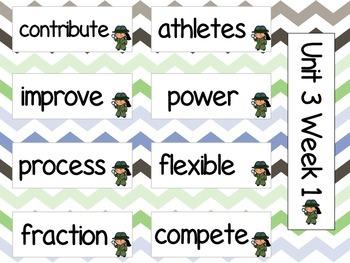 Grade 3 Journeys Unit 3 Vocabulary Cards