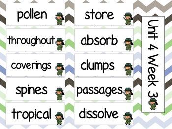 Grade 3 Journeys Unit 4 Vocabulary Card