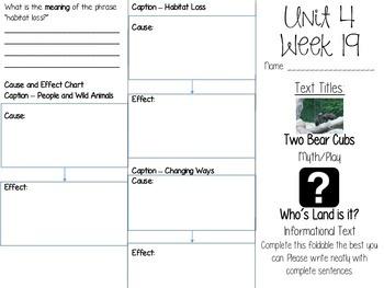 Grade 3 Journeys Unit 4 Week 19 Tri-fold