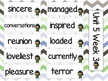 Grade 3 Journeys Unit 5 Vocabulary Card