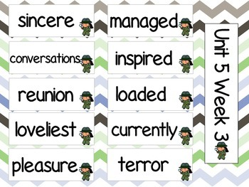 Grade 3 Journeys Unit 5 Vocabulary Card