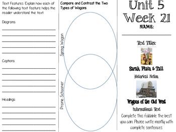 Grade 3 Journeys Unit 5 Week 21 Tri-fold