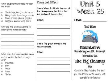 Grade 3 Journeys Unit 5 Week 25 Tri-fold