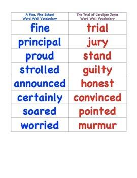 Grade 3 Journeys Vocabulary Word Wall