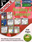 3rd Grade Reading Comprehension Language Activities Bundle