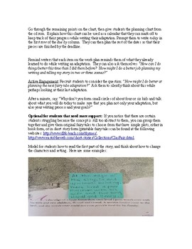 Grade 3 Lesson Plan 7 Once Upon a Time: Adapting and Writing Fairy Tales Unit
