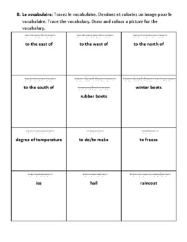 Grade 3 Level 3 Weather Report Unit Vocabulary and Phrases