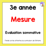 Grade 3 Linear Measurement Test (French)