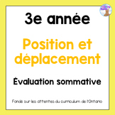 Grade 3 Location & Movement Test (French)