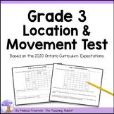 Grade 3 Location & Movement Test (Ontario Curriculum)
