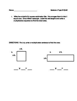Grade 3 MATH Module 4 Topic A and B QUIZ