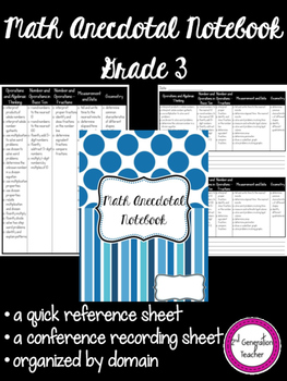 Grade 3 Math Anecdotal Notebok