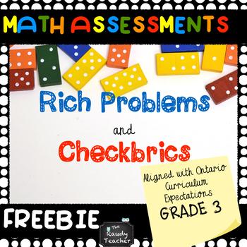 Grade 3 Math Assessment FREEBIE