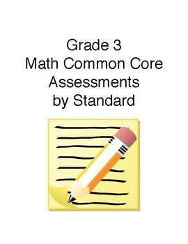 Grade 3 Math Assessments Aligned to CCSS