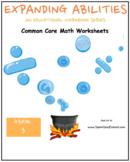 Grade 3 Math Bundle-Algebra,Base 10,Fractions,M&D,Geometry- Traditional Students