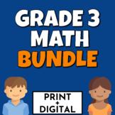 Grade 3 Math Bundle CCSS Aligned Print and Digital