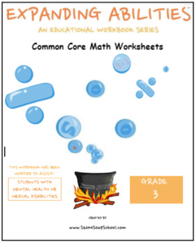 Grade 3 Math Bundle For Students w/ M H or Med Conditions