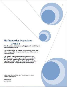 Grade 3 Math, CA Content Standards, Common Core Standards, Midyear Evaluation