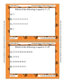 Grade 3 Math Common Core 3.OA.1 Interpreting Products
