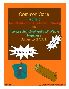 Grade 3 Math Common Core 3.OA.2 Interpreting Quotients