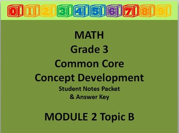 Grade 3 Math Common Core CCSS Student Lesson Pack Module 2 Topic B & Ans Key