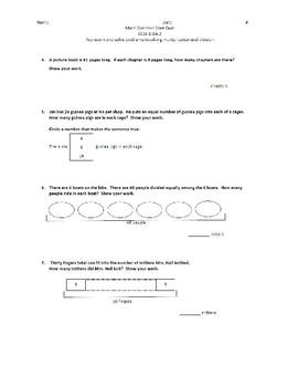 Grade 3 Math Common Core Quiz/Standard 3.OA.A.2