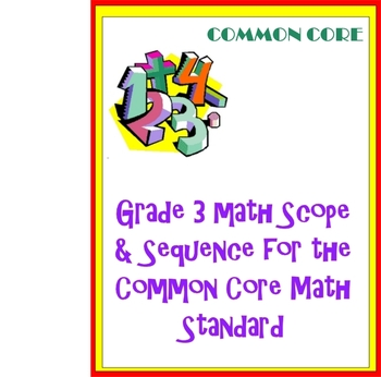 Grade 3 Math Curriculum for the Common Core Math Standards