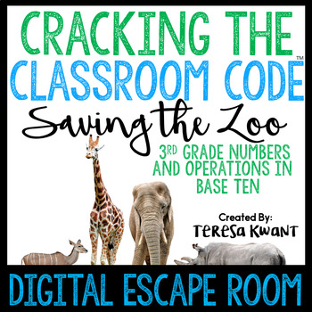 Grade 3 Math Digital Escape Room Number and Operations in Base Ten