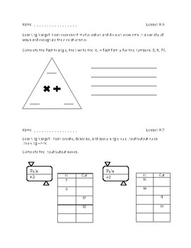 Everyday Math Exit Slips - 3rd Grade Unit 4